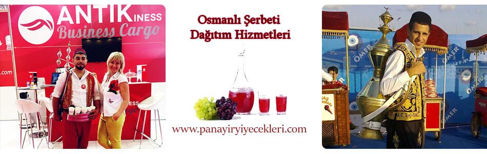 osmanlı şerbetçisi ve şerbet dağıtım hizmeti