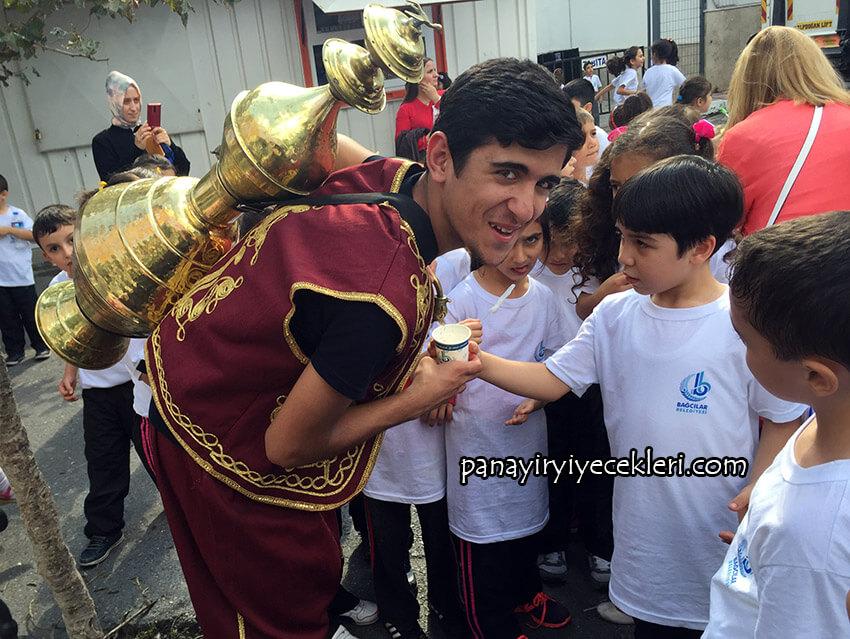 osmanlı şerbeti dağıtımı okul etkinliği
